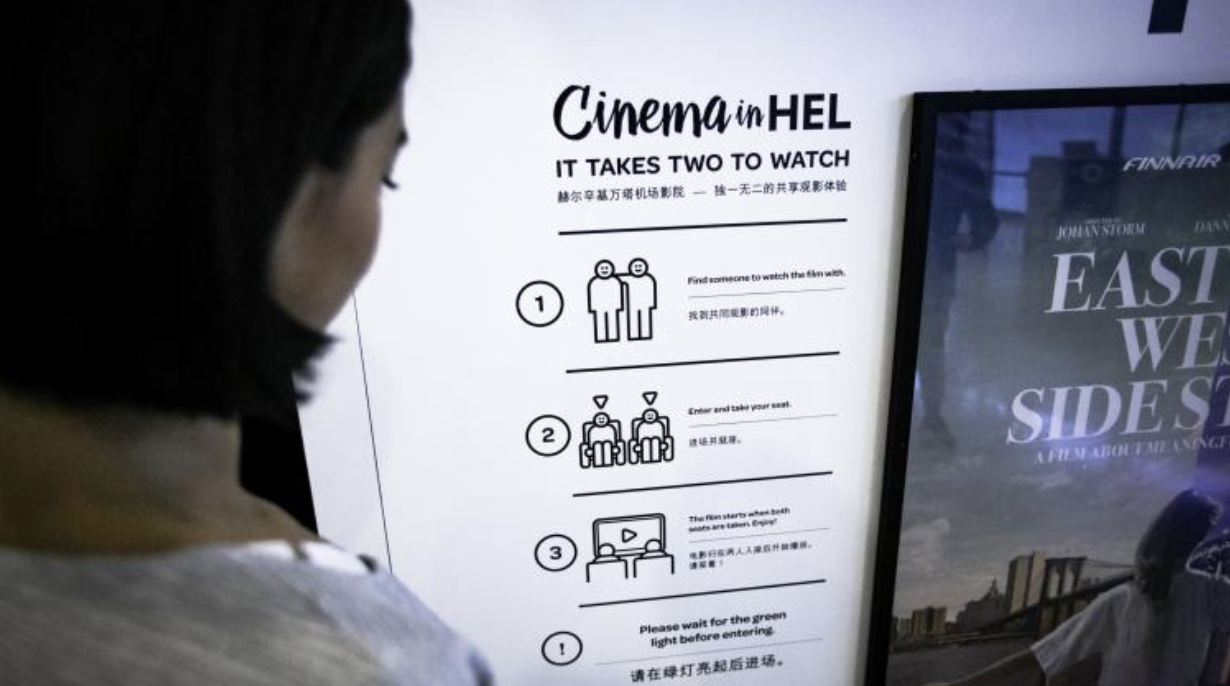 Helsinki Airport Brings Strangers Together to Experience 'Cinema in HEL'