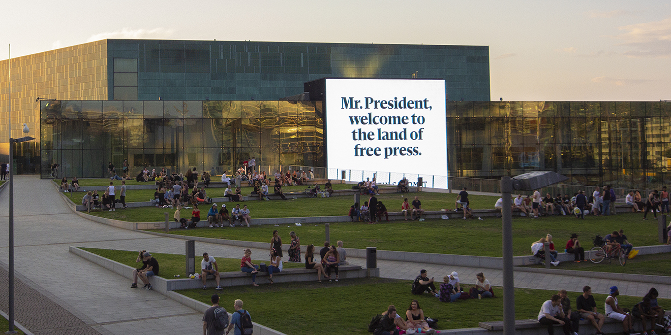 Ad of The Day: The Land of Free Press